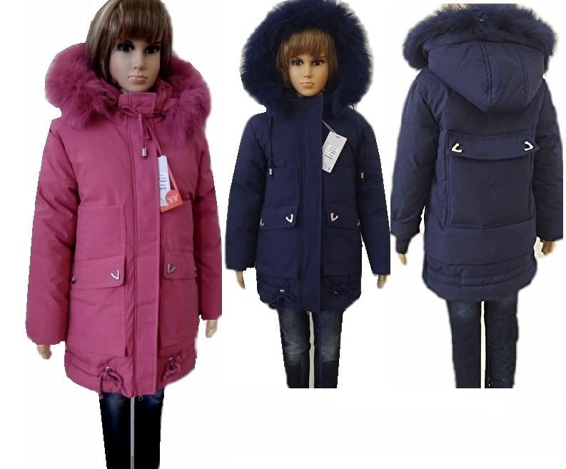 Пальто для девочек 110-134