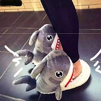 """Тапочки стильные """"Акула"""". Унисекс, супер теплые!"""