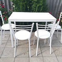 Комплект для кухни, кафе ( стол + стулья ) белый