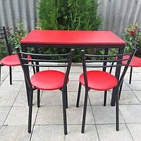 Комплект для кухни, кафе ( стол + стулья ) красный