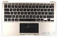 Клавиатура для ноутбука  Apple MacBook Air (A1370) 2011+ Silver с топ-панель, RU (горизонтальный энтер)