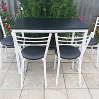 Комплект для кухни, кафе ( стол + стулья ) черный