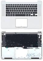 Клавиатура для ноутбука  Apple MacBook Pro (A1398) Black с топ панелью, RU (горизонтальный энтер)