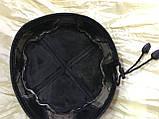 Мужская  талибанка  тюбетейка из натуральной кожи чёрная с бежевым  55-58, фото 4