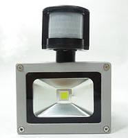 Прожектор светодиодный 10Вт 220В с датчиком движения, фото 1