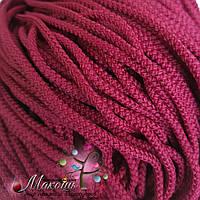 Полиэфирный шнур для вязания, 4 мм, бордовый