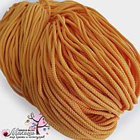 Полиэфирный шнур для вязания, 4 мм, желтый