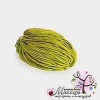 Полиэфирный шнур для вязания, 4 мм, салатовый