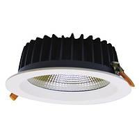 Светодиодный LED светильник ДЕЛЬТА LD 39W 3000K 4000 Lm D230 IP20 встраиваемый, Downlight
