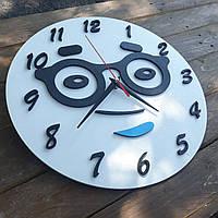 Часы настенные круглые, часы с очками