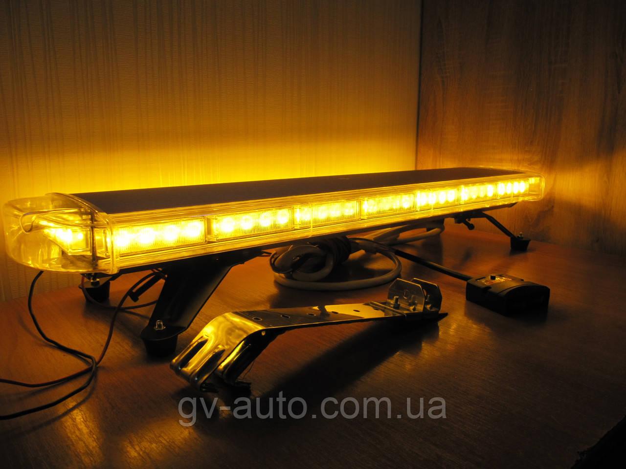 Световая панель LED64-86см. оранжевого(жёлтого) цвета. https://gv-auto.com.ua, фото 1
