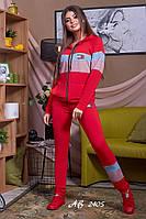 Спортивный костюм двойка женский двухнить Tommy Hilfiger (реплика), красный