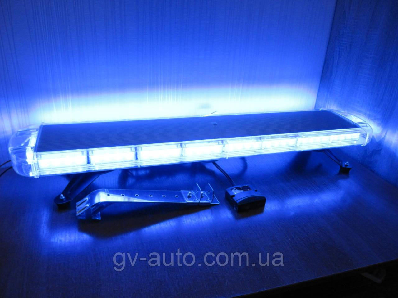 Световая панель LED64-86см. синего цвета. https://gv-auto.com.ua, фото 1