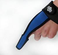 Напальчник для силового заброса карповых монтажей , карповая перчатка ( синий )