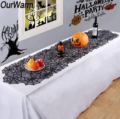 """Скатерть для Halloween """"Паутина"""" - размер скатерти 203*51см"""