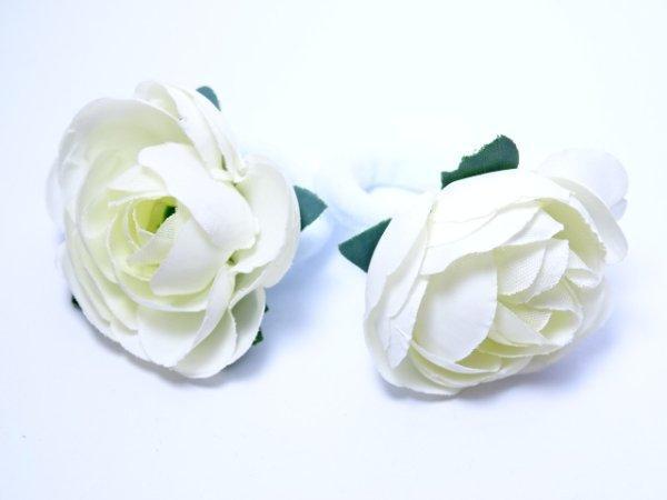 """Детские резинки пара """"Цветы"""" белая"""