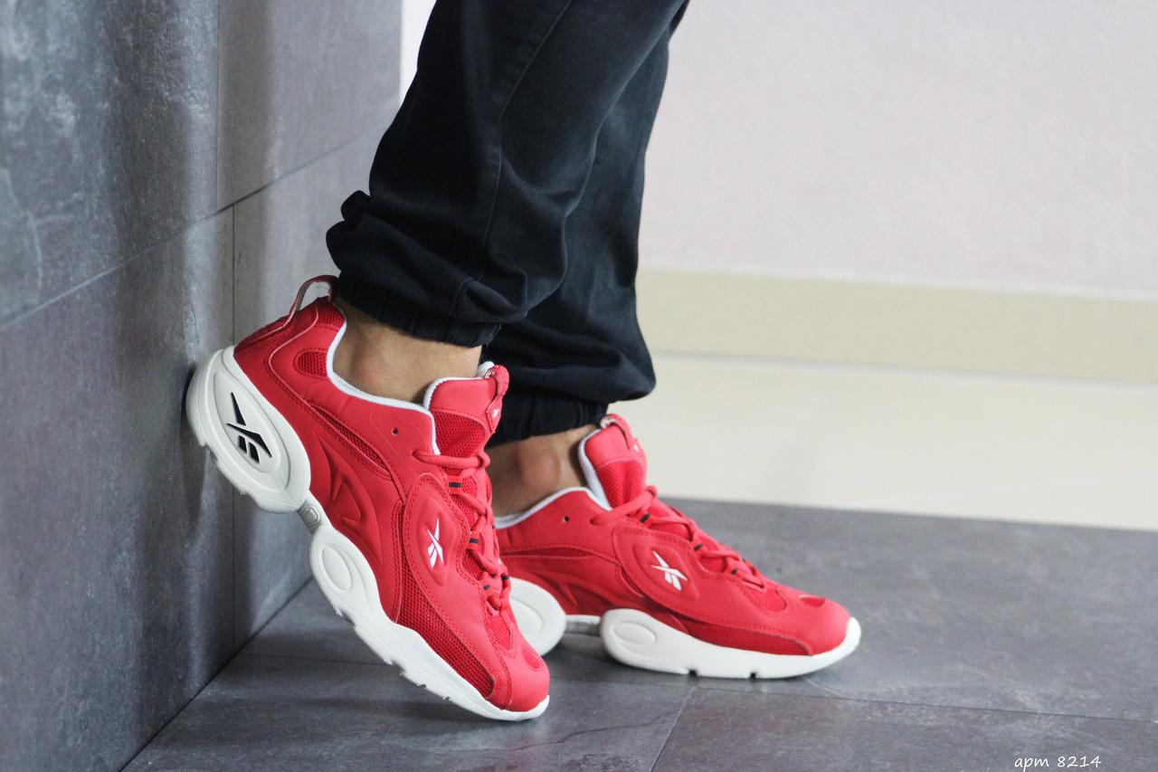 Мужские кроссовки Reebok нубук,красные
