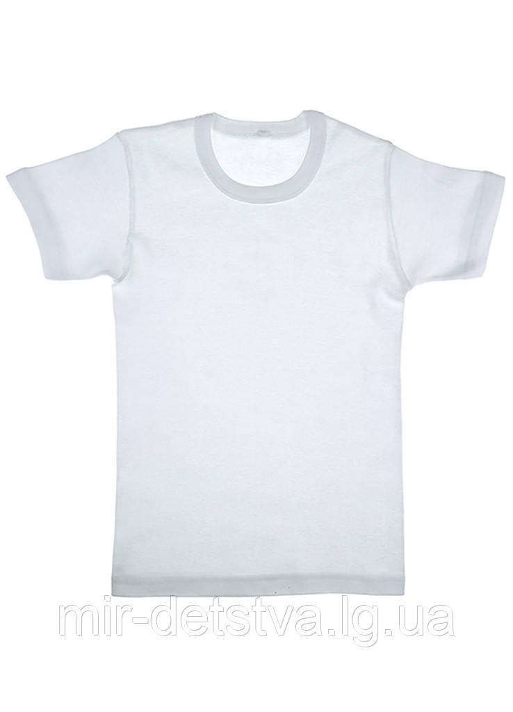 Белая футболка детская оптом, Турция р.4/5 лет (110-116 см)