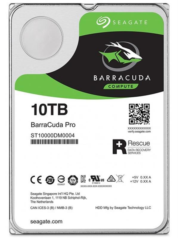 Накопитель HDD SATA 10.0TB Seagate Barracuda Pro 7200rpm 256MB (ST10000DM0004)