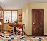 Двери межкомнатные Новый стиль Овал ПВХ Deluxe глухая, цвет золотая ольха, фото 2