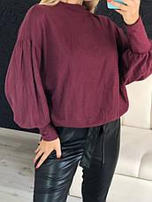 Женский трикотажный свитшот с пышными рукавами, фото 2