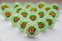 Цветы Мятные из фоамирана (латекса) 3 см 10 шт/уп