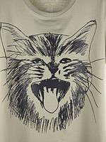 """Футболка """"CAT"""" М/Л 1067 Хаки, фото 3"""