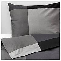 Комплект постельного белья IKEA BRUNKRISSLA 200x200 см Черный (303.755.30)