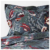 Комплект постельного белья IKEA FILODENDRON 200x200 см Темно-синий (304.125.42)