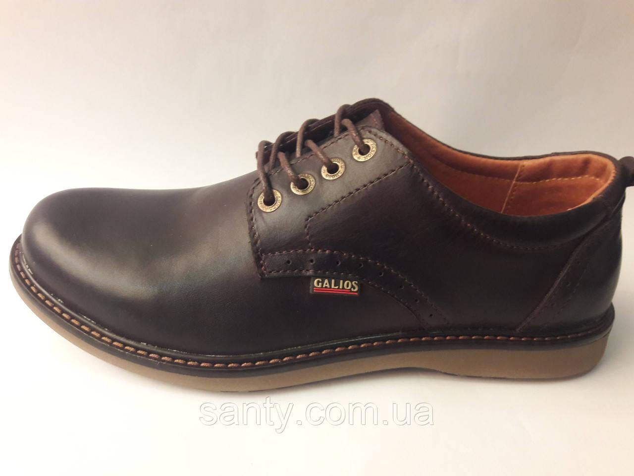 Мужские туфли Черные Gelios