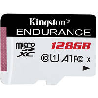 Карта памяти Kingston 128GB microSDXC class 10 UHS-I U1 A1 High Endurance (SDCE/128GB)