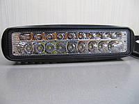 Дополнительная фара LED 2060 белый+жёлтый 23 Вт., фото 1