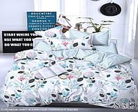 Евро комплект постельного белья с компаньоном из сатина на молнии (пододеяльник 200х220) S-319е
