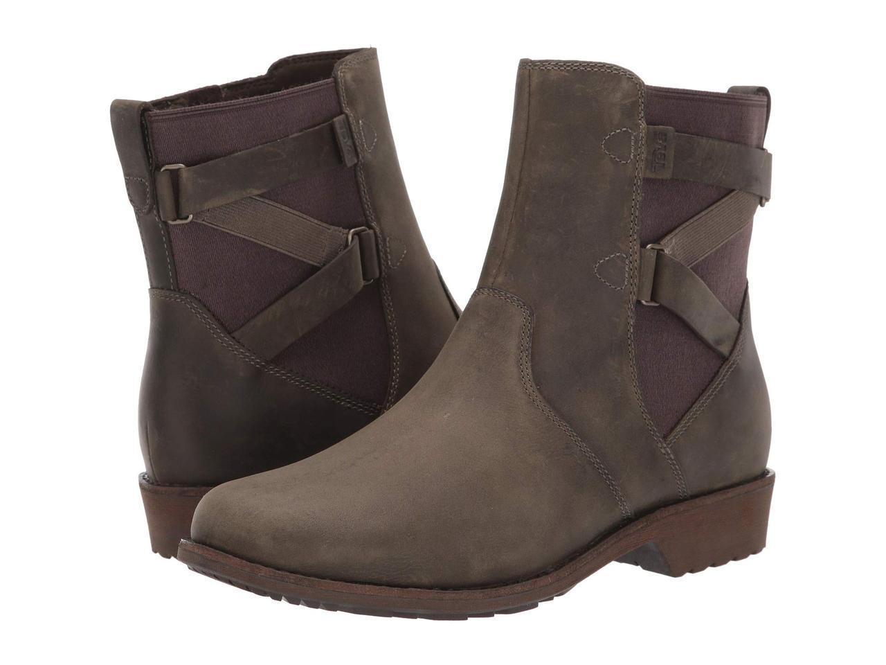 Ботинки/Сапоги (Оригинал) Teva Ellery Ankle WP Dark Olive
