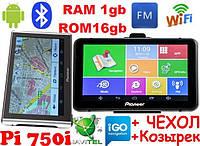 GPS навигатор Pioneer Pi700i  PRO (750i) + AV Андроид GPS Навигатор с Wifi Ips Мультитач 7 дюймов