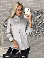 Женская рубашка стрейч С, М, Л, фото 1