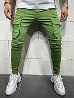 😝 Джинсы - Мужские зеленые джинсы c карманами