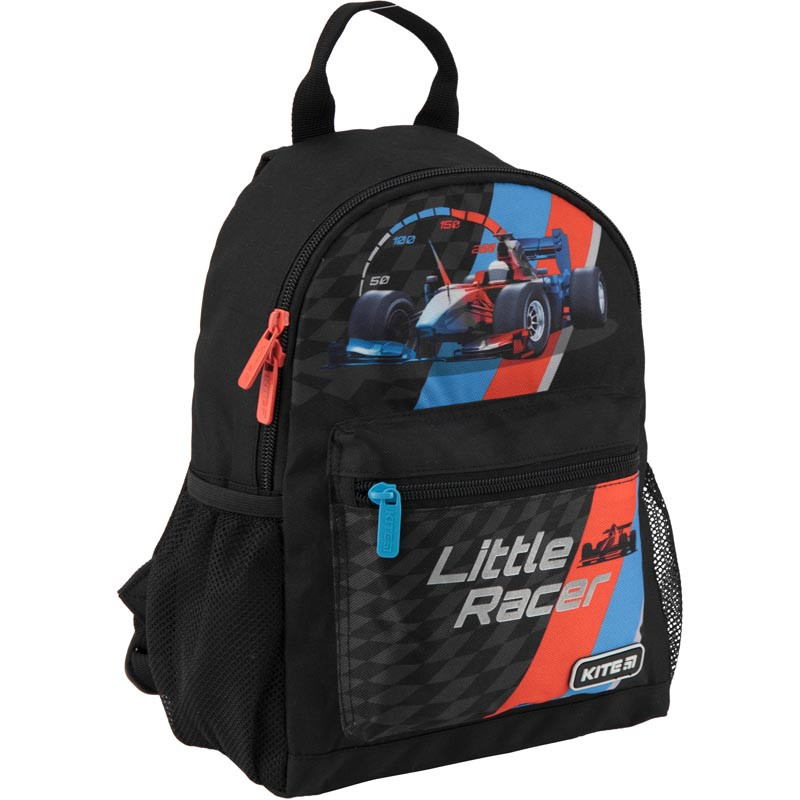 Рюкзак дошкольный Kite Kids Little Racer 30х22х10 см 7 л Черный