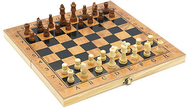 Шахматы / Шашки / Нарды - Набор 3в1, дерево, доска 30х30 см., фото 3