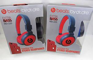Красные беспроводные наушники Monster Beats By Dr.Dre MS 220, фото 2