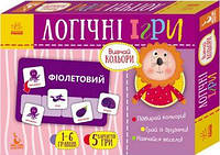 КЕНГУРУ Логічні ігри. 2+ Вивчай кольори. 24 картки (Укр)