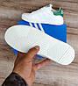 Дитячі, підліткові кросівки Adidas Stan Smith White Green. Натуральна шкіра, фото 4