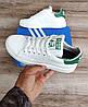 Дитячі, підліткові кросівки Adidas Stan Smith White Green. Натуральна шкіра, фото 5