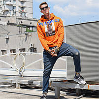 "Свитшот ""PRISONER"" М/Л 946 Оранжевый, фото 4"