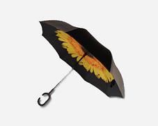 Зонт обратного сложения Up-Brella (Желтый Цветок), фото 3