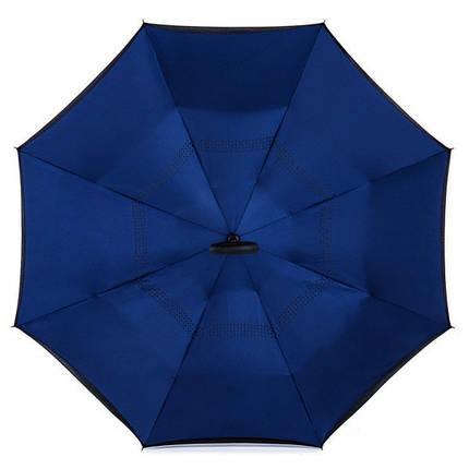 Зонт обратного сложения Up-Brella (Темно-синий ), фото 2