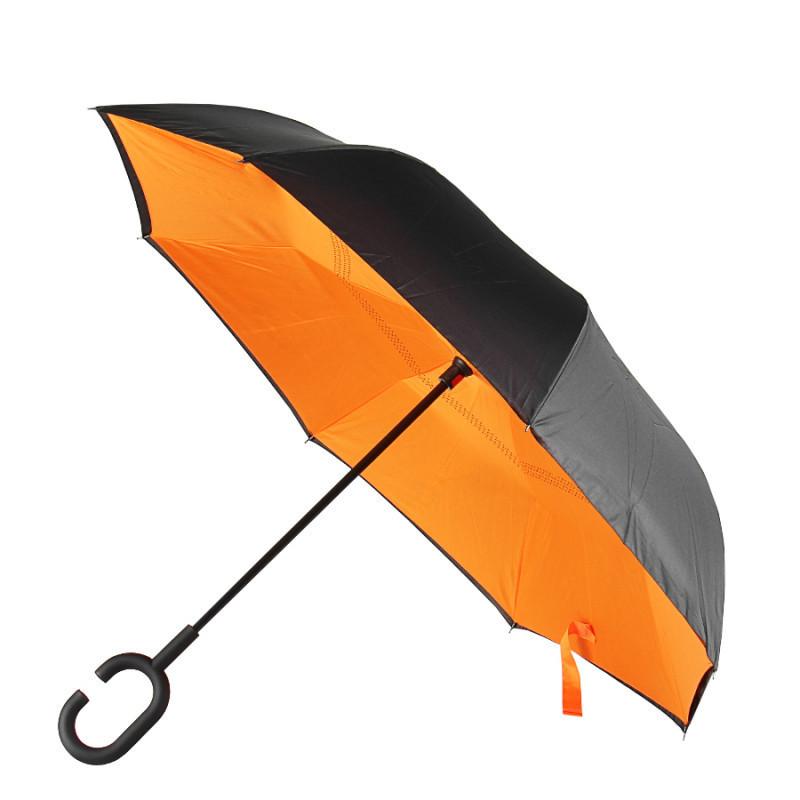 Зонт обратного сложения Up-Brella (Оранжевый )