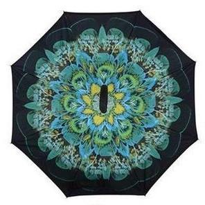 Зонт обратного сложения Up-Brella (Зеленый цветок)