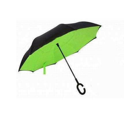 Зонт обратного сложения Up-Brella (Салатовый), фото 2