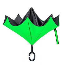Зонт обратного сложения Up-Brella (Салатовый), фото 3